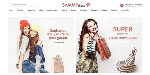 Homepage da Sammy Dress